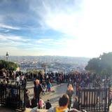 Paris. View of Paris from monte matte clouds Stock Images