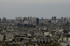 Paris view from Montmartre royalty free stock images