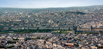 Paris view from Montparnasse tower Stock Images