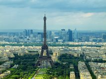 Paris view from Montparnasse tower. France Stock Images