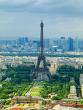 Paris view from Montparnasse tower. France Royalty Free Stock Images