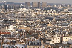 Paris, view from Motmartre hill Royalty Free Stock Photos