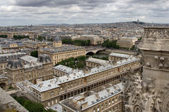 Paris view from Notre Dame Stock Photography