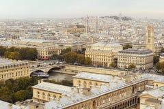 Paris view from Notre-Dame de Paris Royalty Free Stock Photography