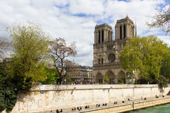 Paris view from Notre Dame Royalty Free Stock Photos