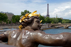Paris - View On Seine River And Eiffel Tower From Alexander III