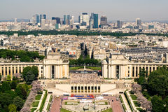 Paris. View on the Palais de Chaillot Royalty Free Stock Photo