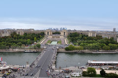 Paris, view of Palais de Chaillot Royalty Free Stock Photography