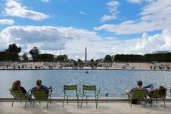Paris. View of the Place de la Concorde from Jardin des Tuileries stock images