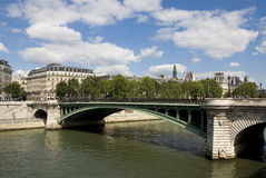 Paris view of the river Seine Stock Photography