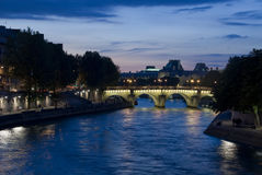 Paris view of the river Seine Stock Photos