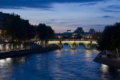 Paris view of the river Seine Stock Photos