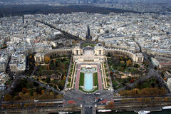 Paris view from the top of Eiffel Tower Stock Image