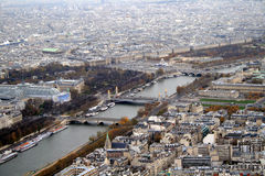 Paris view from the top of Eiffel Tower Stock Photography