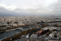 Paris view from the top of Eiffel Tower Stock Images