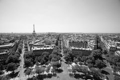 Paris view from Triumphal Arch Stock Photography