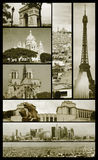 Paris views on grunge royalty free stock photography