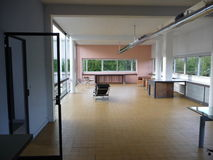 Paris - Villa Savoye (Living Room at Entrance) Stock Images