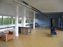 Paris - Villa Savoye (Living Room with Fireplace) Royalty Free Stock Images