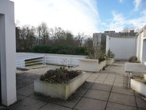 Paris - Villa Savoye (Roof View at Corner) Stock Photography