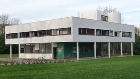 Paris - Villa Savoye (Yard View) Royalty Free Stock Images