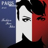 Paris vintage grunge poster Royalty Free Stock Photography