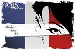 Paris vintage grunge poster royalty free illustration