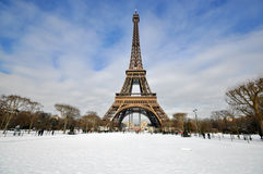 paris vinter Arkivbild