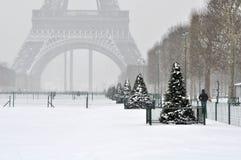 paris vinter Fotografering för Bildbyråer