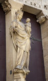 Paris - virgin Mary Saint Denis cathedral Stock Photography