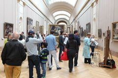 PARIS Visitors at the Louvre Museum Royalty Free Stock Photography