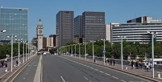 Paris - vista da ponte de Charles de Gaule Foto de Stock