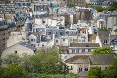 Paris vista de cima de Fotografia de Stock Royalty Free