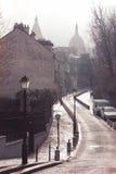paris Vista em Monmartre do quadrado de Dalida Imagens de Stock