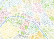 Paris, vista satélite, mão tirada, França Fotografia de Stock Royalty Free