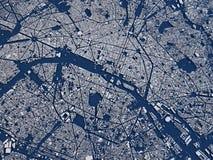 Paris, vista satélite, seção 3d, França Foto de Stock Royalty Free