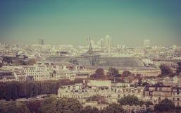 Paris-Vogelperspektive Lizenzfreies Stockfoto
