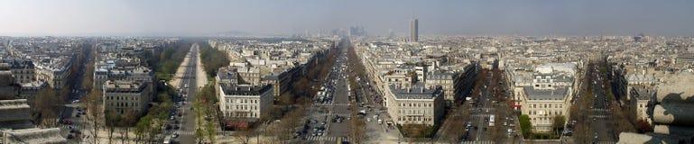 Paris vom Arc de Triomphe Stockbilder