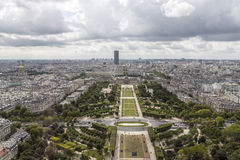 Paris vom Eiffelturm lizenzfreies stockfoto