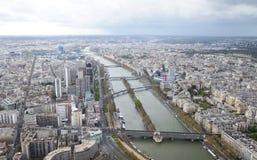 Paris vom Eiffelturm Stockfoto