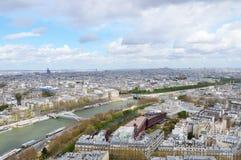 Paris vom Eiffelturm Stockbild