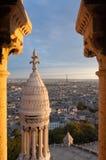 Paris von Basilique du Sacre-Coeur Stockbild