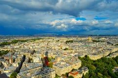 Paris von der Ansicht von Eiffel Lizenzfreie Stockfotografie