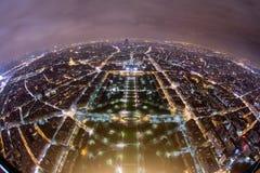 Paris von der Oberseite Stockfoto