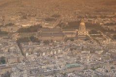 Paris von oben Lizenzfreies Stockfoto