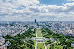 Paris von oben stockbild
