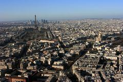 Paris, vue aérienne Image libre de droits