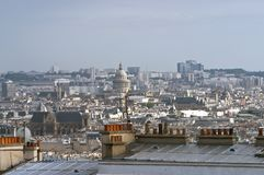 Paris, vue de côte de Motmartre Images libres de droits