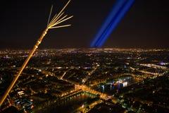 paris Vue de nuit de Tour Eiffel photos libres de droits
