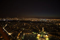paris Vue de nuit de Tour Eiffel Photos stock